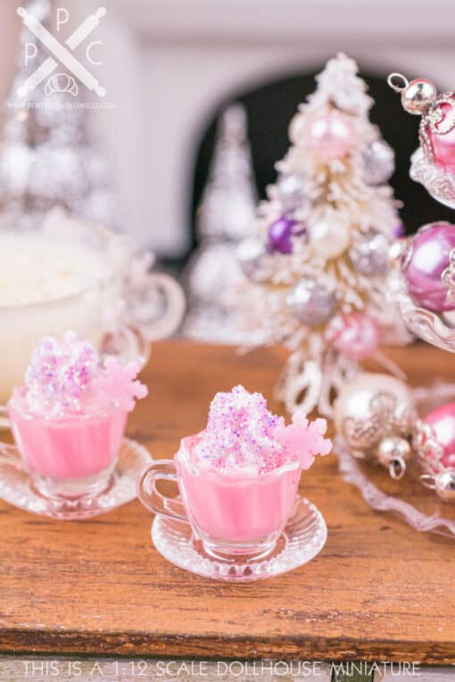 Dollhouse Miniature Sugarplum Fairy Hot Cocoa for Two - 1:12 Dollhouse Miniature Drink
