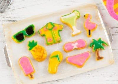 Palm Springs Summer Cookies on Baking Sheet