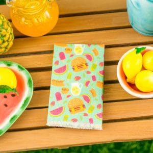 Summer Snacks Tea Towel