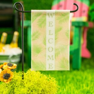 Welcome Palm Fronds Garden Flag