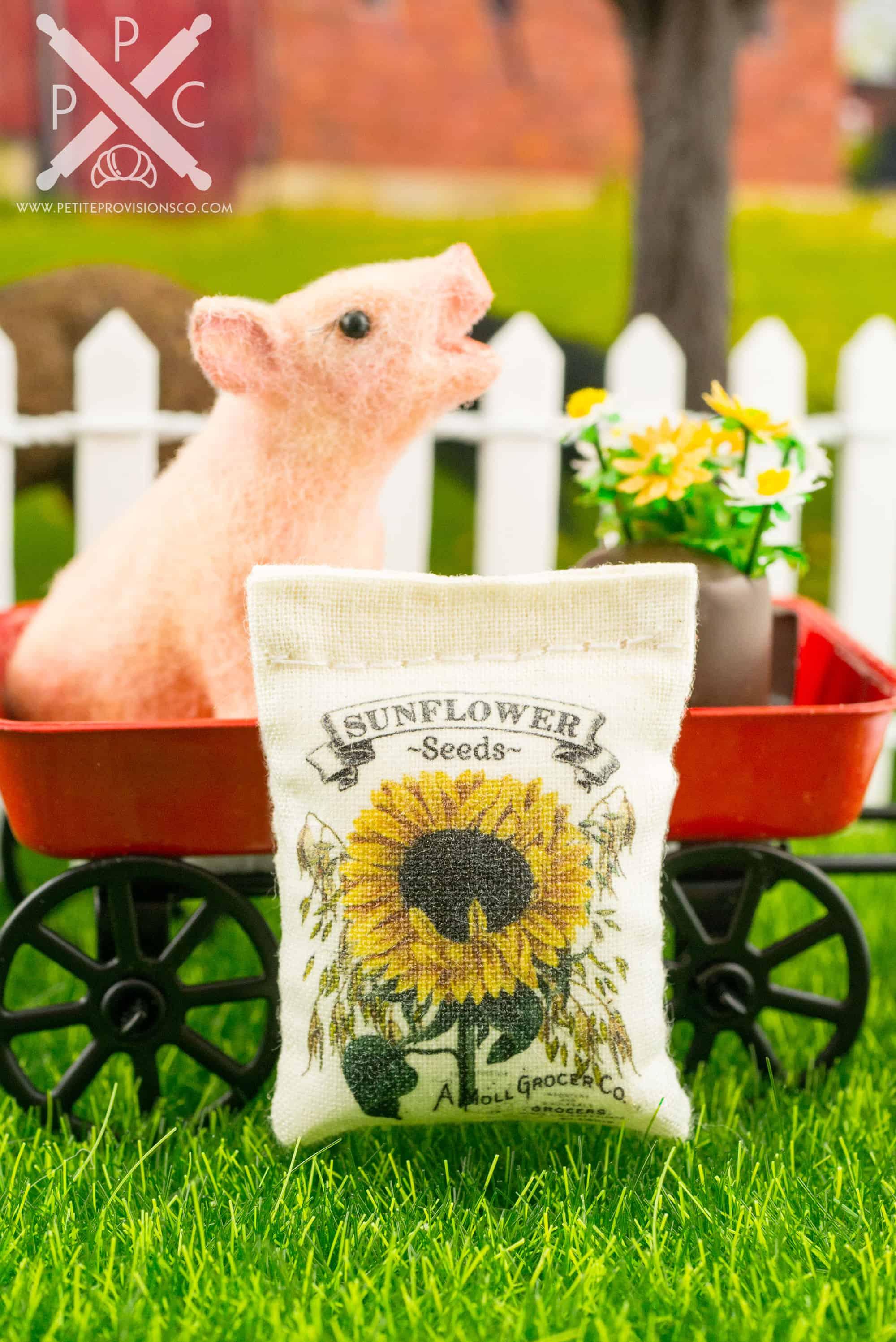 Dollhouse Miniature Sunflower Seeds Bag 1 12 The Pee Provisions Co