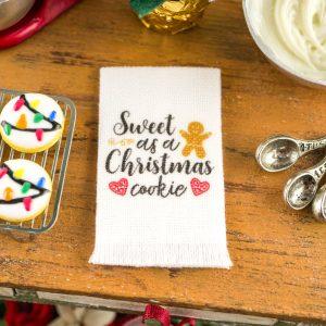 Sweet as a Christmas Cookie Tea Towel