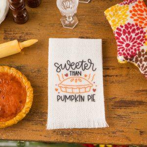 Sweeter Than Pumpkin Pie Tea Towel