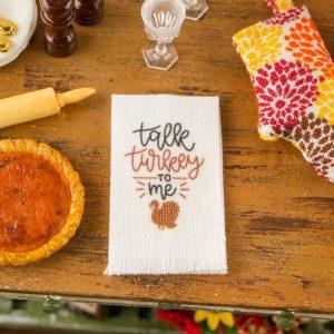Talk Turkey To Me Tea Towel