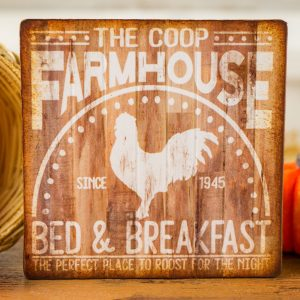 The Coop Farmhouse Bed & Breakfast Sign