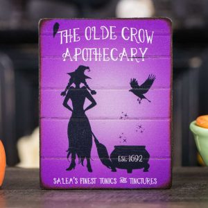 The Olde Crow Apothecary Sign