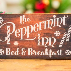 The Peppermint Inn Bed and Breakfast Sign