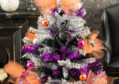 Tinsel Halloween Tree