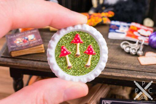 Dollhouse Miniature Toadstool Cookies on Tray - 1:12 Dollhouse Miniature Halloween Cookies
