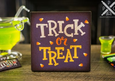Trick or Treat Candy Corn Sign