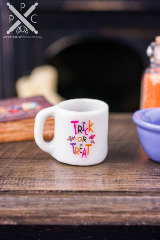 Dollhouse Miniature Trick or Treat Halloween Mug
