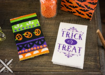 Halloween Tea Towels – Trick or Treat and Colorful Print – Set of 2