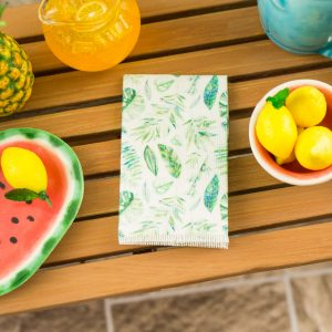 Tropical Leaves Tea Towel