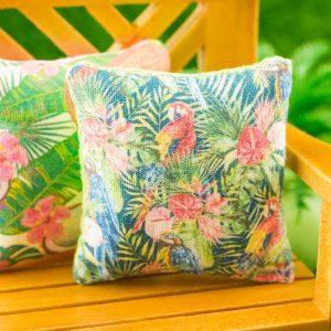 Tropical Parrots Pillow