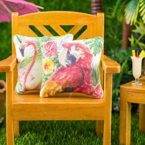 Tropical Scarlet Macaw Pillow