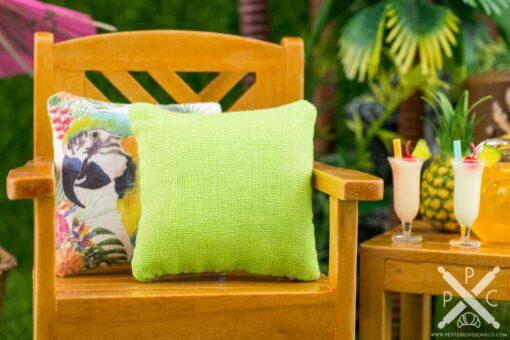 Dollhouse Miniature Tropical Toucan Pillow - 1:12 Dollhouse Miniature Throw Pillow