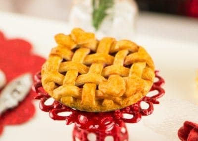 Valentine's Day Cherry Pie with Lattice Crust