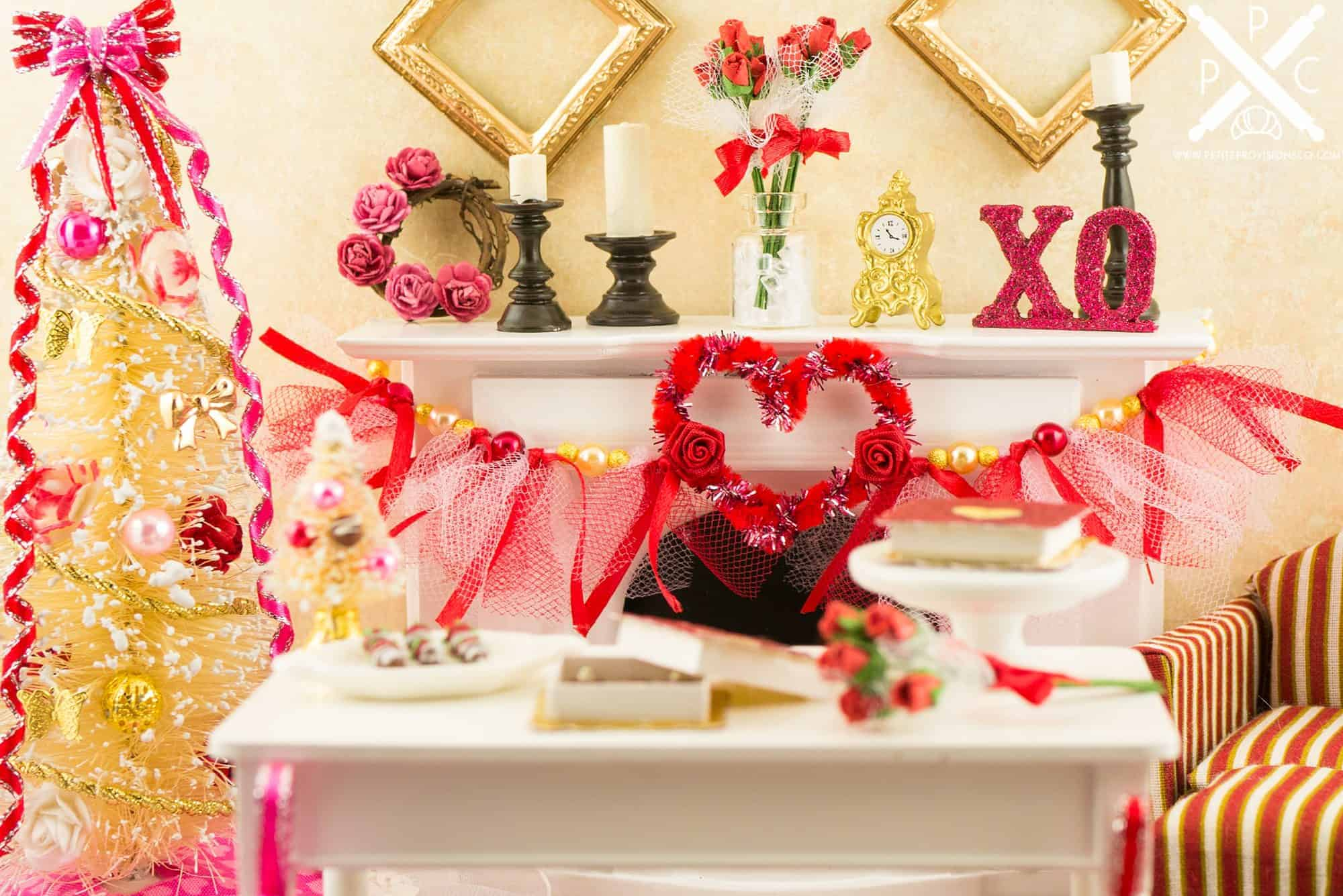 Dollhouse Miniature Valentine's Day
