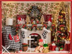 Dollhouse Miniature Waiting for Santa Christmas Roombox by Erika Anne Pitera
