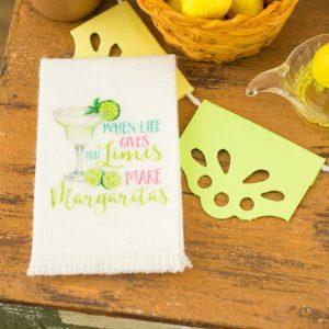 When Life Gives You Limes Make Margaritas Tea Towel