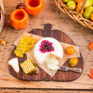 Autumn Pumpkin Cheese Board with Fruit and Brie