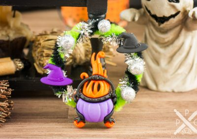 Witchy Cauldron Halloween Wreath