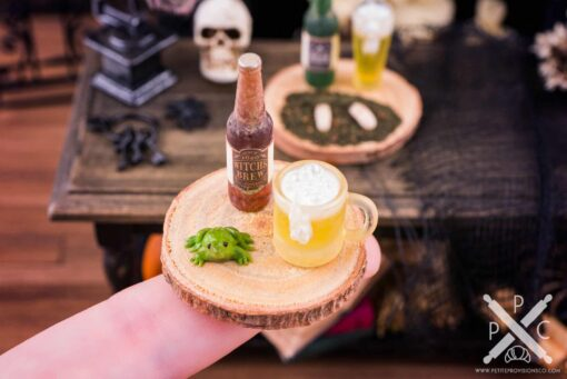 Dollhouse Miniature Witch's Brew Beer and Toad Set