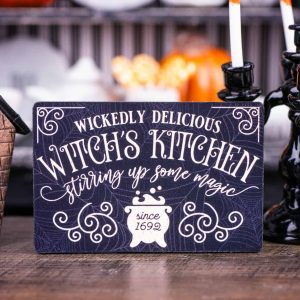 Wickedly Delicious Witch's Kitchen Sign