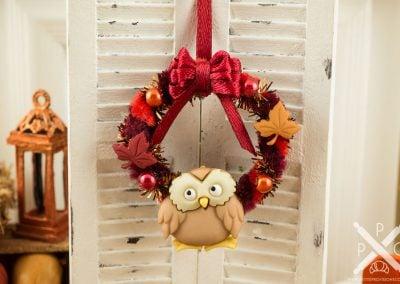 Woodland Owl Autumn Wreath